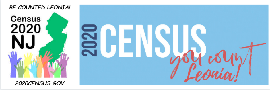 2020 Census Banner - Leonia Counts